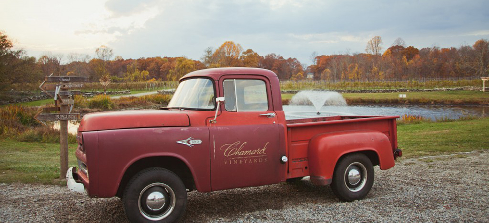 Chamard Vineyard Red Truck